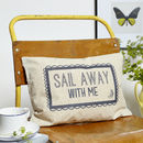 Sail Away With Me Boudoir Cushion