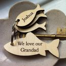 Personalised Big Fish Little Fish Key Ring
