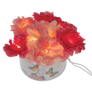 Garland Of Rose Pink Gardenia Fairy Lights - children's room