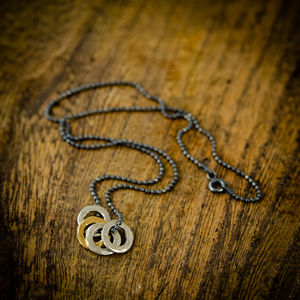 Mens Family Eternity Necklace - necklaces