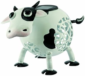 Decorative Cow Solar Light Ornament - lights & lanterns