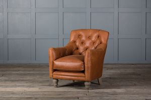Tufted Glove Leather Chair - furniture