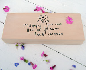 Your Child's Picture And Text Wooden Box