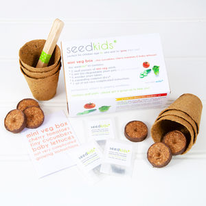 Seedkids* Grow Your Own 'Mini Veg' Kit - edible plants & seeds