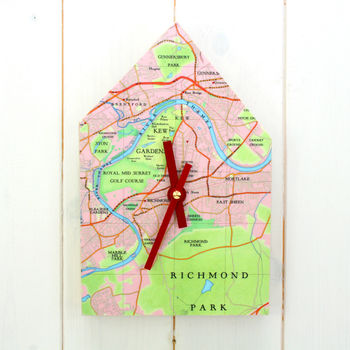 Personalised Map House Clock