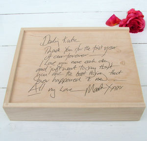 Handwritten Message Box - bedroom