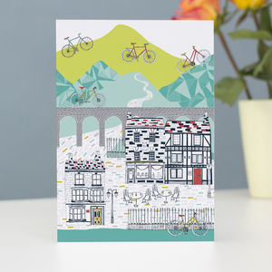 Yorkshire Cycling Greetings Card