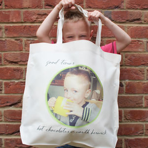 Personalised 'Photo Message' Large Tote Bag