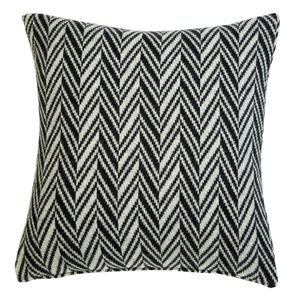 Herringbone Knitted Cushion - bedroom