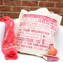 Personalised 'Teacher Classroom Rules' Large Tote Bag