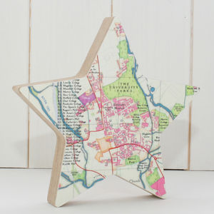 Graduation Map Location Star Ornament - graduation gifts