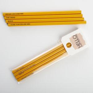 Fairy Tale Pencil Set - wedding favours