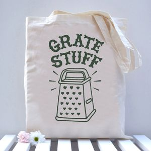 Grate Stuff Tote Bag - lunch boxes & bags