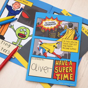 Personalised Why Daddy Is My Hero Activity Book - books