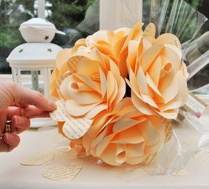 Personalised Say It With A Rose Paper Bouquet - flowers