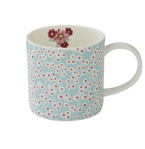 Vintage Kitchen Climbing Floral Straight Sided Mug - mugs