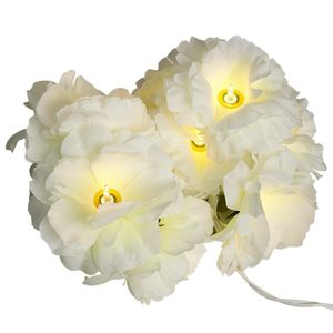 Garland Of Ivory Gardenia Fairy Lights - children's room accessories