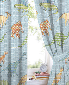 Retro Dino Curtains - curtains & blinds