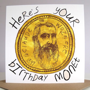 'Birthday Monet' Birthday Card