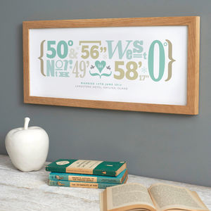 Personalised Coordinates Print - art & pictures