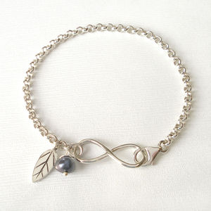 Sterling Silver Infinity Charms Bracelet - women's jewellery