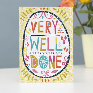 'Very Well Done' Greetings Card