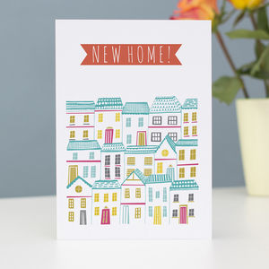 'New Home' Greetings Card - new home cards