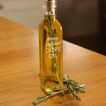 Home Infused Olive Oil Bottle