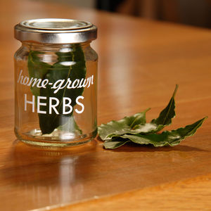 Home Grown Herbs Storage Jar - tins, jars & bottles