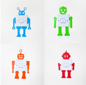 Robot Light 'Switch And Swatch' Sticker Pack - children's room accessories