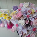Pink New Baby Accessories Paper Flower Bouquet