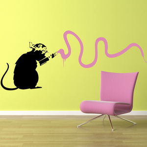 Banksy Vandal Wall Sticker