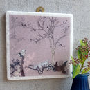 Autumnal Day Large Marble Wall Art