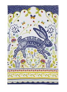 Woodland Hare Cotton Tea Towel - kitchen accessories