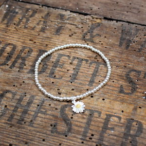 Wildflower Daisy Beaded Bracelet
