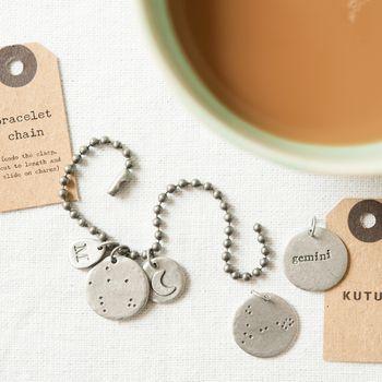 Sentiment Charm Bracelet Or Necklace