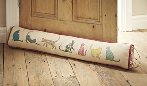 Cat Prints Draught Excluder - office & study