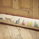 Cat Prints Draught Excluder