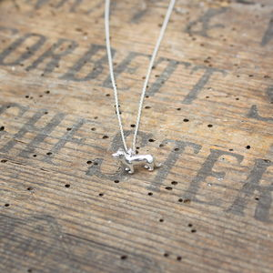 Sausage Dog Pendant Necklace - women's jewellery