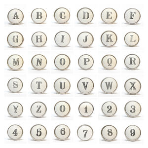 Ceramic Alphabet Letters And Numbers Knob - home accessories