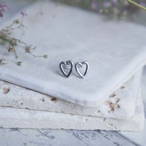 Open Heart Earrings - earrings