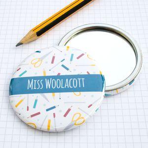 Thank You Teacher Pocket Mirror Gift - gifts for teachers