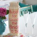 Personalised Printed Bride To Be Bottle Bag