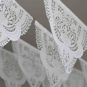 Lace Papel Picado Tissue Garland - room decorations