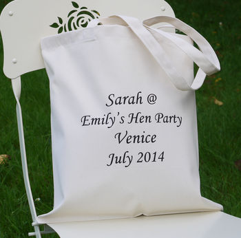 Personalised Wedding 'Hen Party' Bag