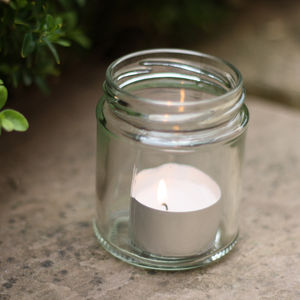 Plain Glass Jam Jar - lanterns & votives