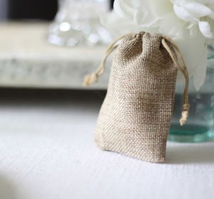 Wedding Favour Bag Or Advent Gift Bag Hessian / Linen - wedding favours