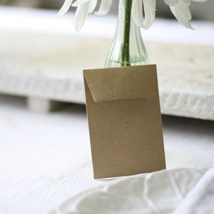 Wedding Favour Envelope For Seeds Or Sweets - wedding favours