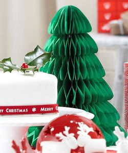 Green Paper Honeycomb Christmas Tree