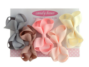 Ice Cream Bow Set - hair accessories